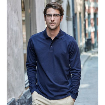 Tee Jays Luxury Stretch Long Sleeve Polo